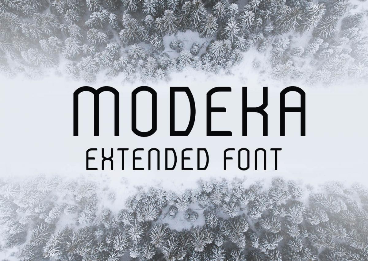 Modeka Extended Font