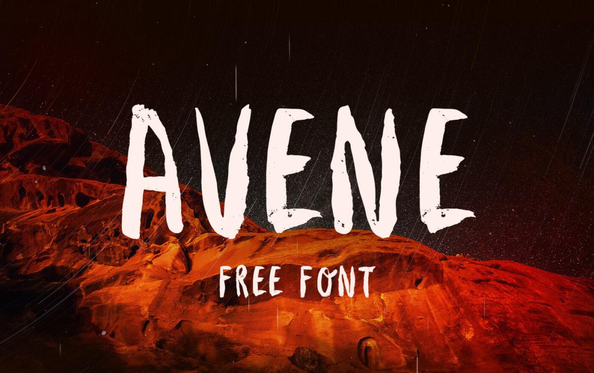 Avene Free Brush Font