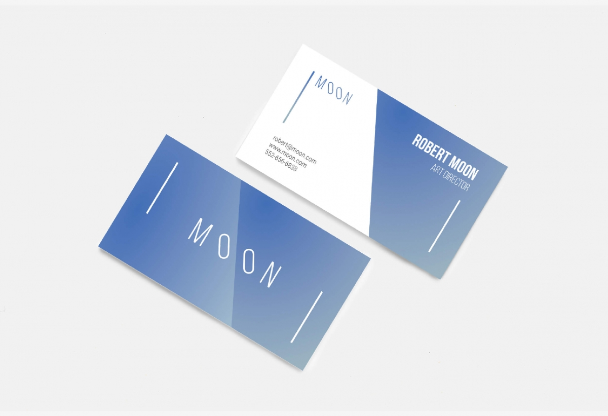 Moon business card template by wildones team graphic design moon business card template colourmoves