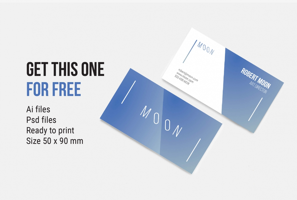 Moon Business Card Template by WildOnes Team. Graphic Design.