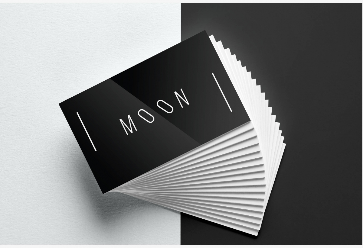 Moon Business Card Template