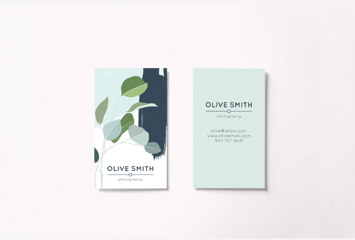 Olive Business Card Template