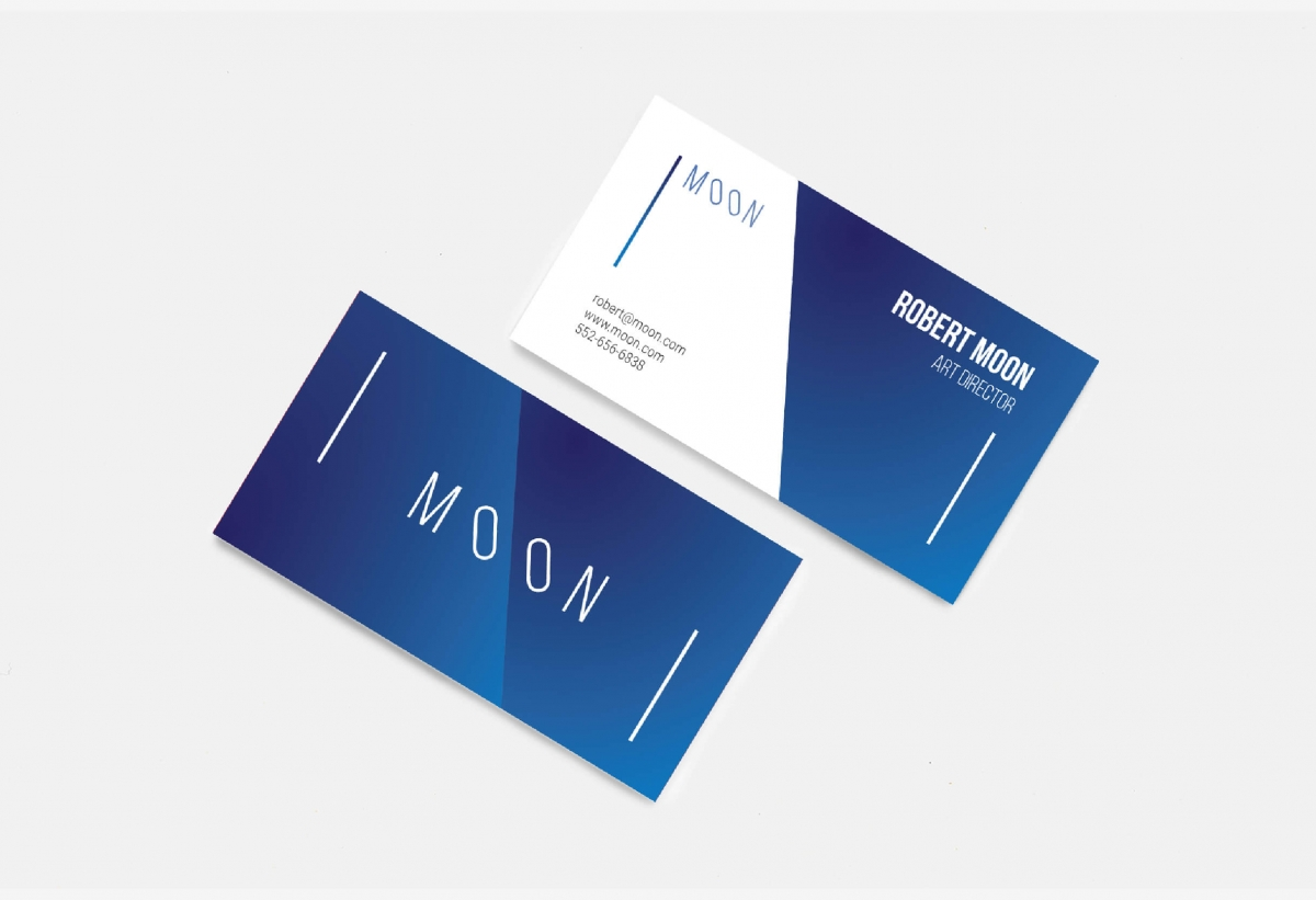 moon business card template by wildones team graphic design