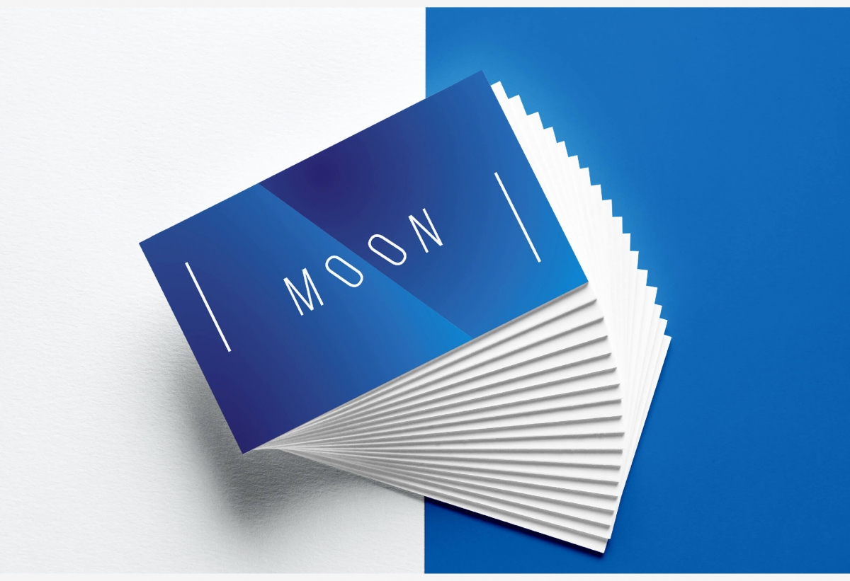 Moon business card template by wildones team graphic design moon business card template moon business card template colourmoves