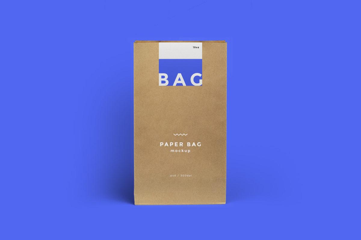 Paper Bag Mockup Cafe