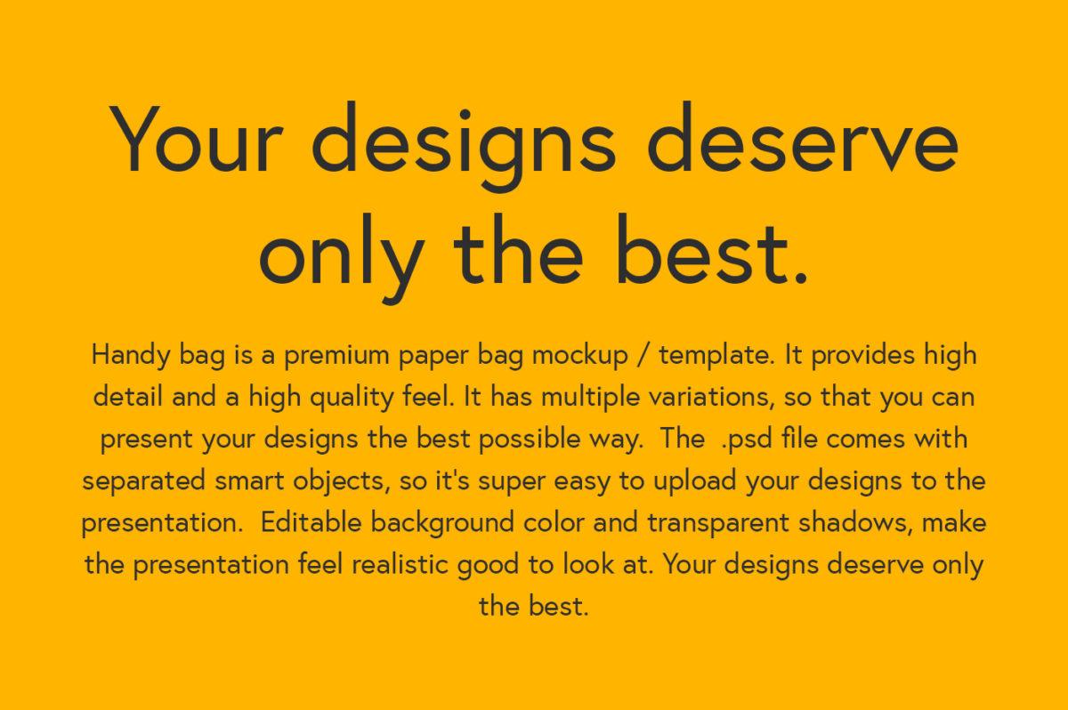 Handy Paper Bag Mockup
