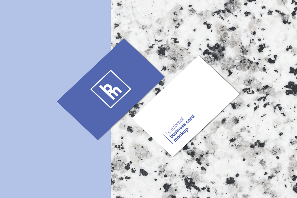 Horizontal Business Card Mockup