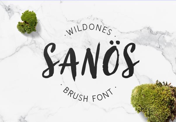 Sanos Sanös brush handwritten script typeface font sans