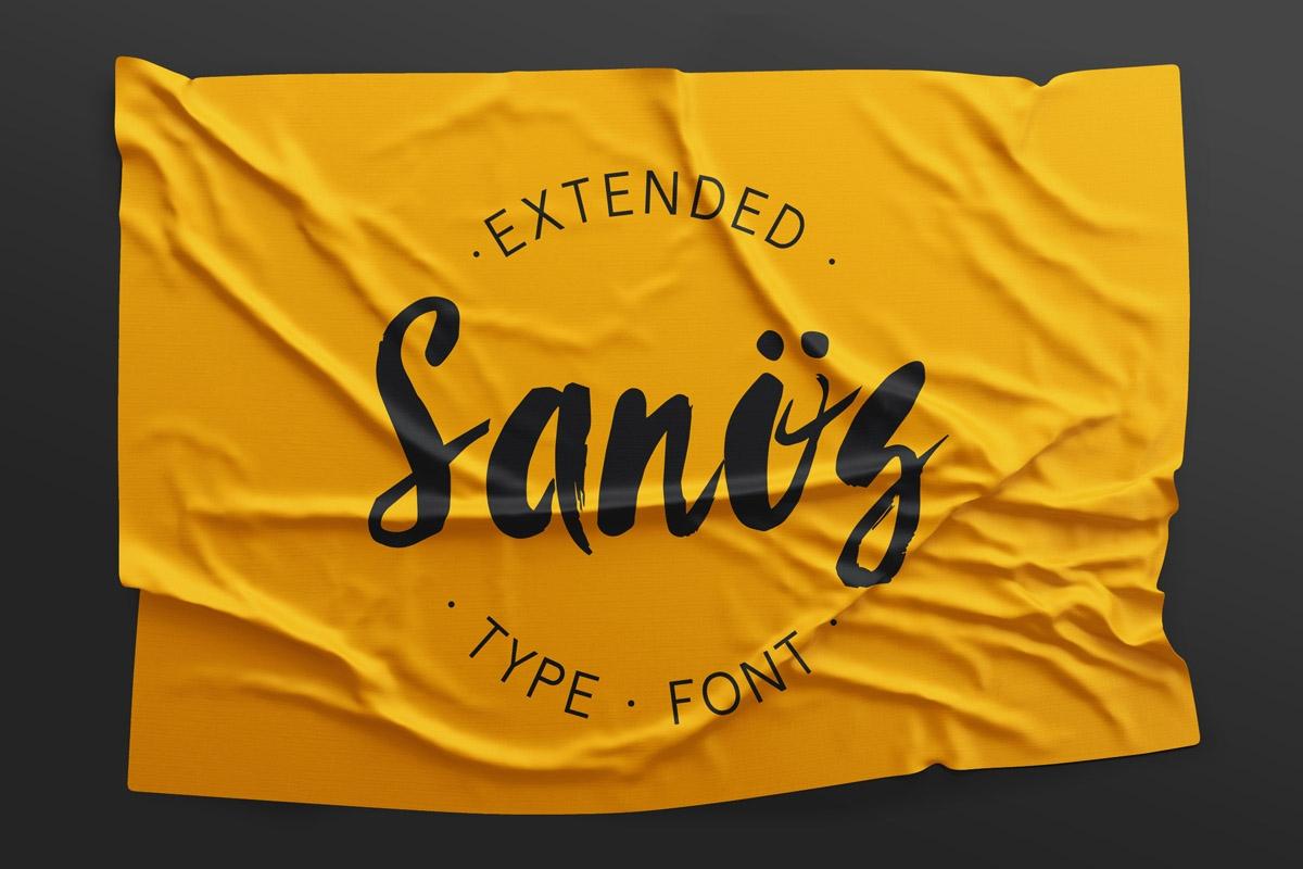 Sanös Extended Script Font