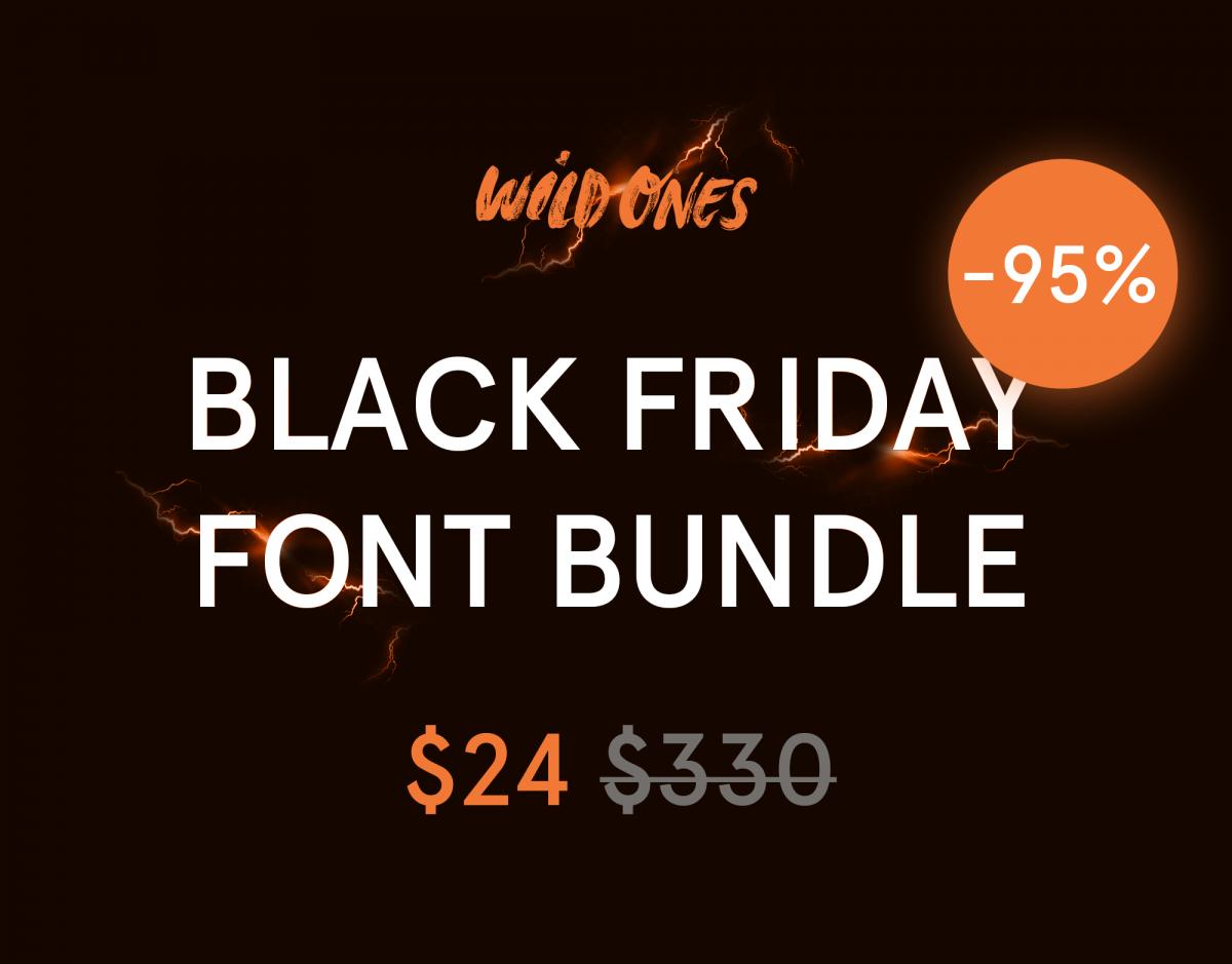Black Friday Font Bundle -95% Off