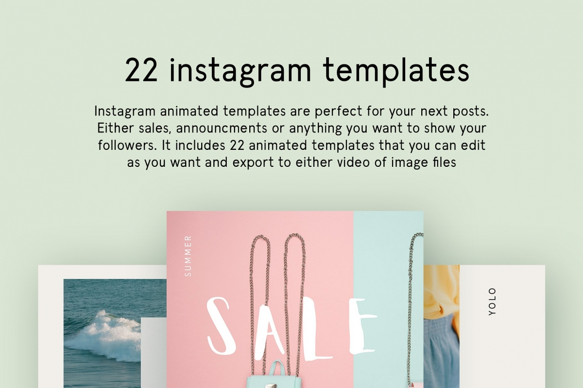 Instagram Animated Posts – Minimal