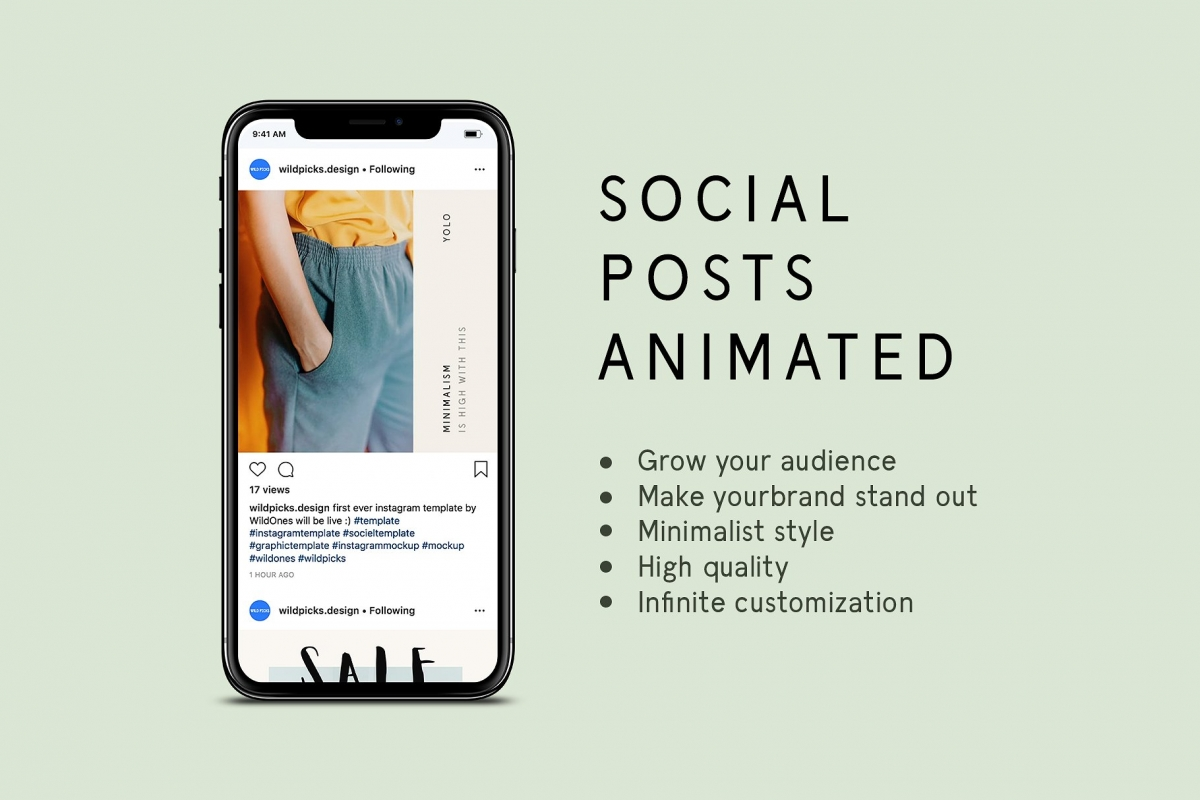 Instagram Animated Posts – Minimal