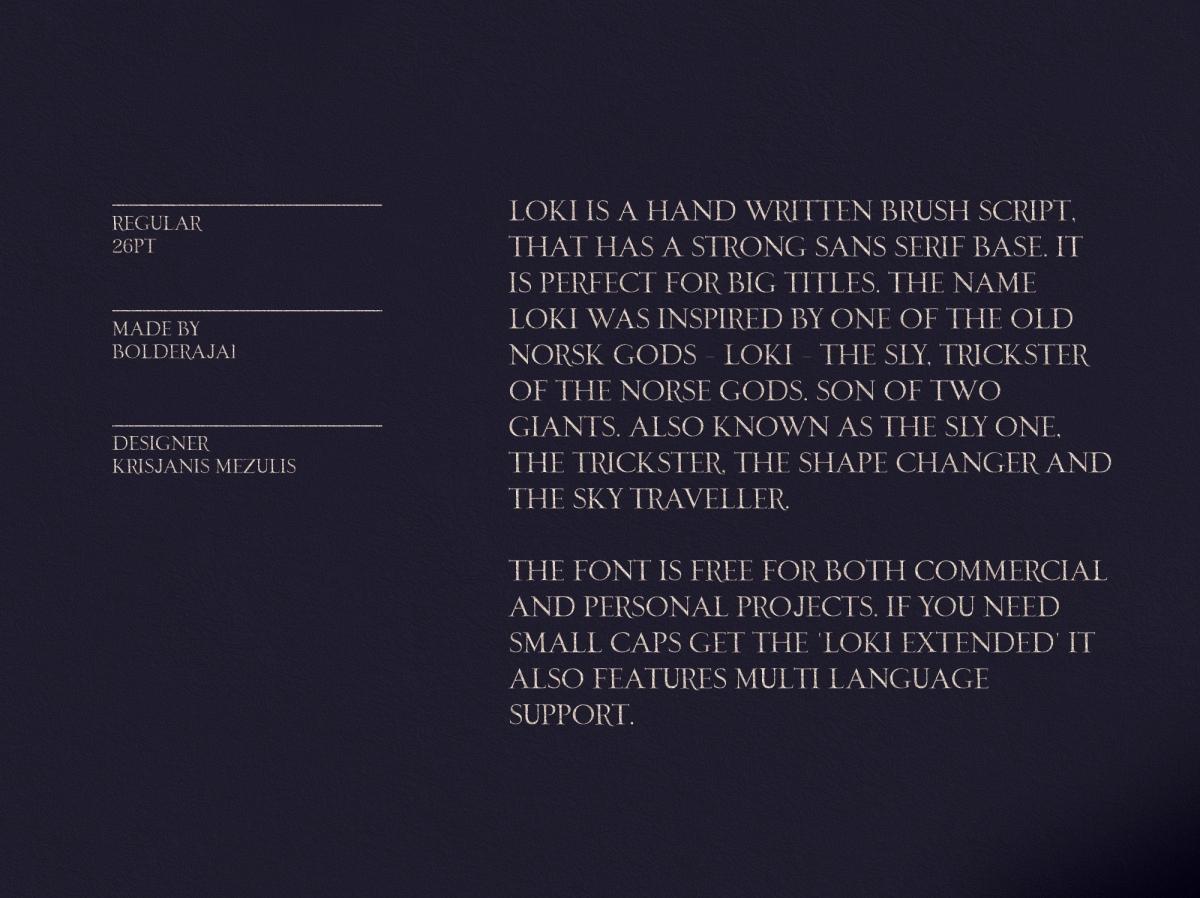 Loki – Free Sans Serif Script Font