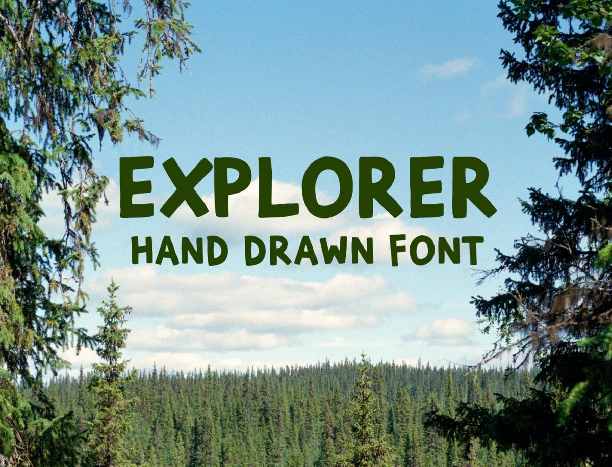 Explorer Extended Brush Font
