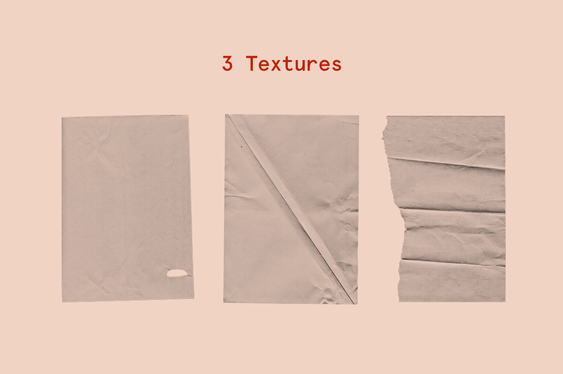 Dore – Wrinkle paper mockup