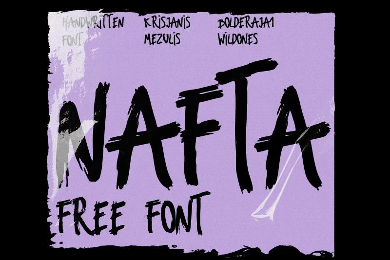 Nafta Free Font