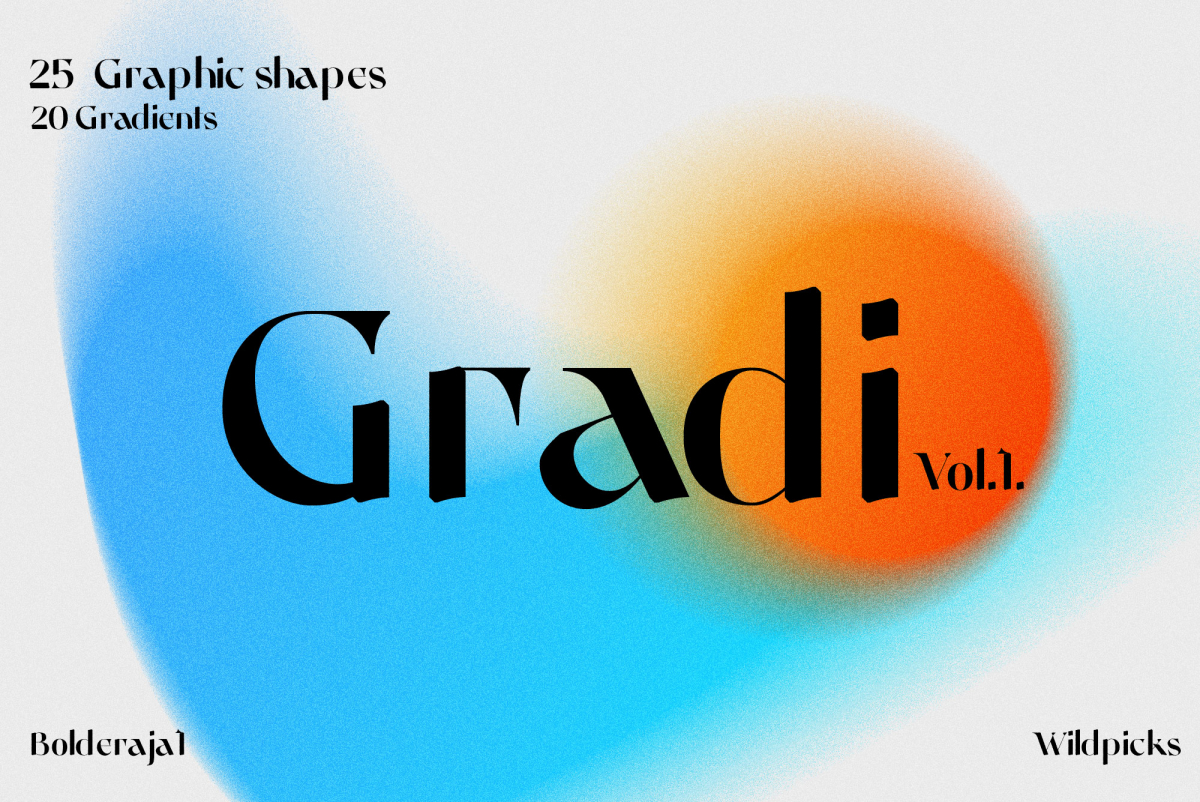 Gradient Color Grainy Textures